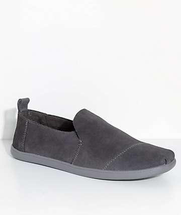 Toms Deconstructed Alpargatas Forged Iron Grey Suede Shoes