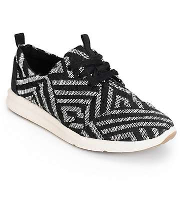 Toms Del Rey Black Tribal Womens Shoes