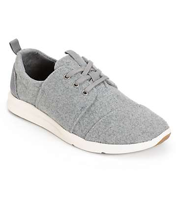 Toms Del Rey Grey Felt Womens Shoes