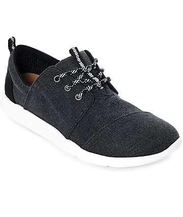 Toms Del Rey zapatos de lienzo negro