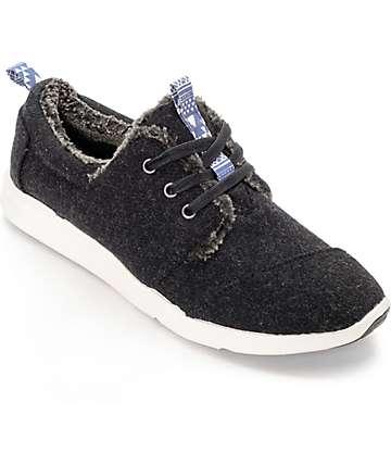 Toms Del Rey zapatos de mujer en lana gris y símil piel de oveja