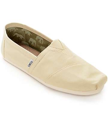 Toms Mens Classic Natural Canvas Shoes