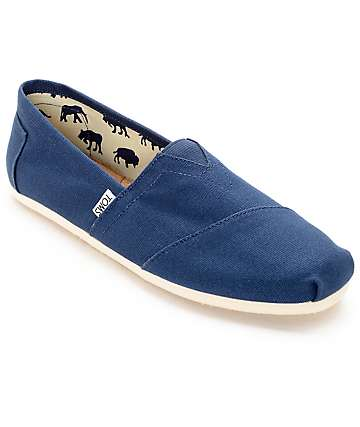 Toms Mens Classic Navy Canvas Shoes