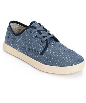 Toms Paseo Chambray Polka Dot Womens Shoes
