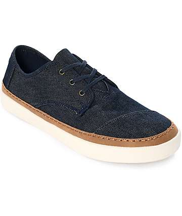 Toms Paseo Navy Denim Shoes