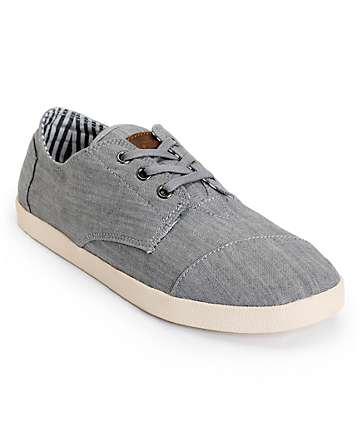 Toms Paseos Grey Denim Men's Shoes