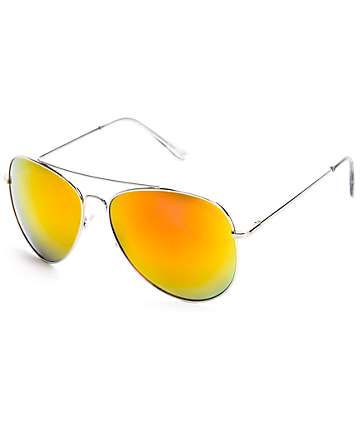 Top Gun Red Mirrored Aviator Sunglasses