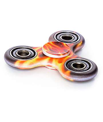 Top Trenz Flame Black & Red Fidget Spinner