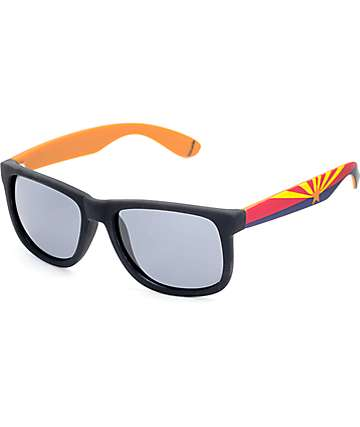 Townie AZ State Flag Black Sunglasses