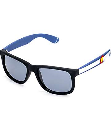 Townie CO State Flag Black Sunglasses