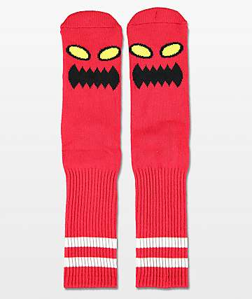 Toy Machine Monster Red Crew Socks