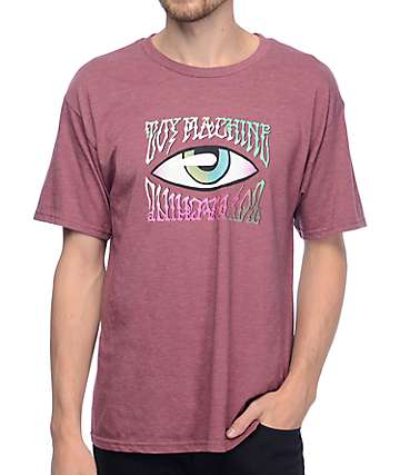 Toy Machine Psych Eye Burgundy T-Shirt