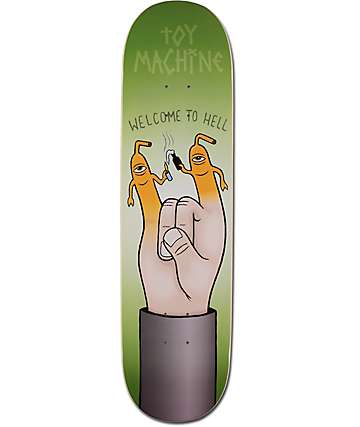 "Toy Machine Welcome To Hell 8.25"" Skateboard Deck"