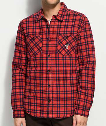 Toy Machine X RVCA Thickness Red & Navy Flannel Jacket