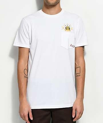 Toy Machine X RVCA White Pocket T-Shirt