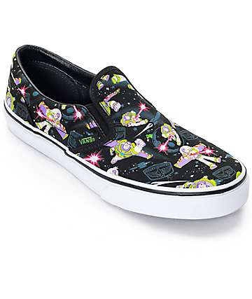 Toy Story x Vans Classic Slip On Buzz Lightyear Boys Shoes