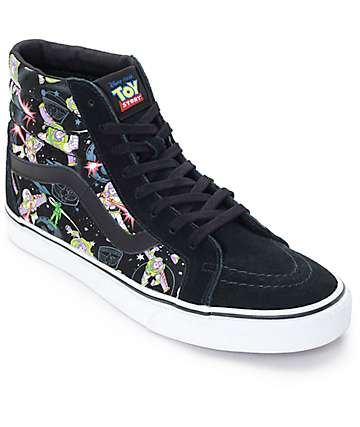 Toy Story x Vans Sk8 Hi Buzz Lightyear Black Shoes (Mens)