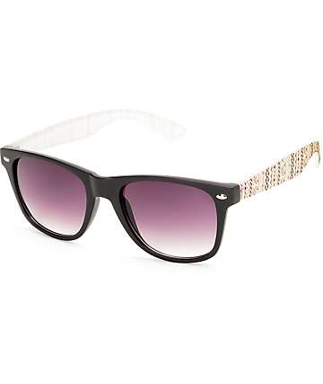 Trail Blazer Black & Burgundy Arm Sunglasses