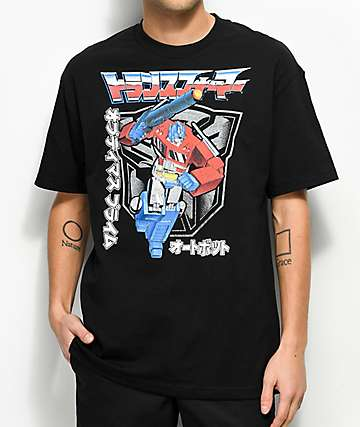 Transformers Kanji Black T-Shirt