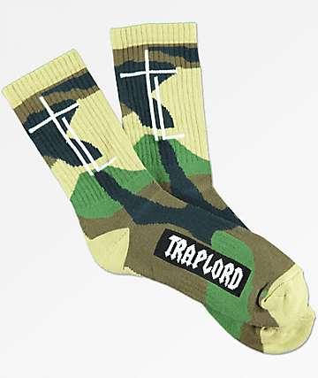 Trap Lord  Camo calcetines en verde