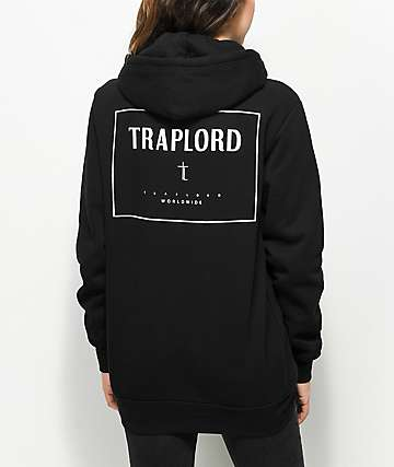 Trap Lord Box Logo Black Hoodie
