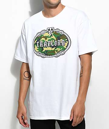 Trap Lord Camo Fill Crest White T-Shirt