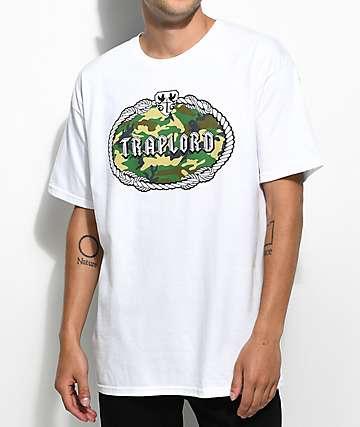 Trap Lord Camo Fill Crest White T-Shirt