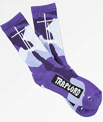 Trap Lord Camo Violet Crew Socks