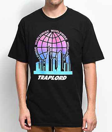 Trap Lord City Logo Black T-Shirt