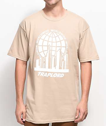 Trap Lord City Logo Khaki T-Shirt