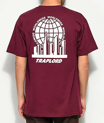 Trap Lord City Logo Maroon T-Shirt