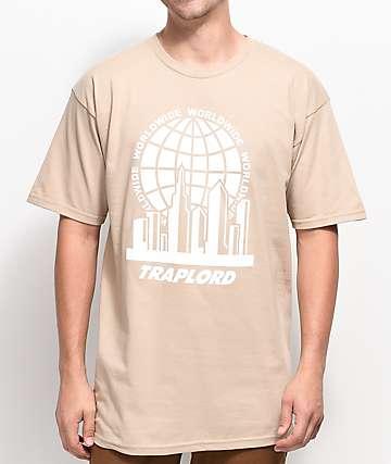 Trap Lord City Logo camiseta en color caqui