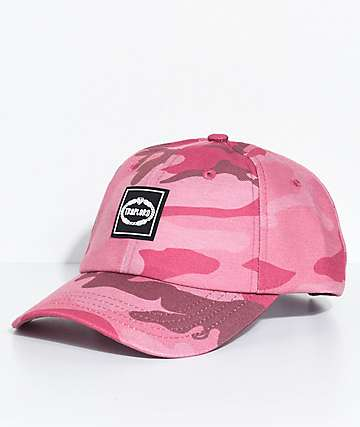 Trap Lord Crest Camo Pink Strapback Hat