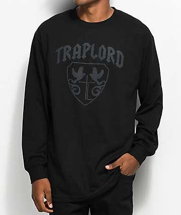 Trap Lord Crest Tonal Black Long Sleeve T-Shirt