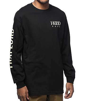 Trap Lord Hood Pope Black Long Sleeve T-Shirt