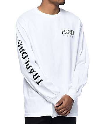 Trap Lord Hood Pope White Long Sleeve T-Shirt