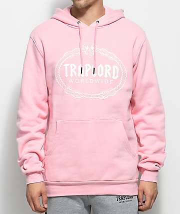 Trap Lord Logo Pink Pullover Hoodie