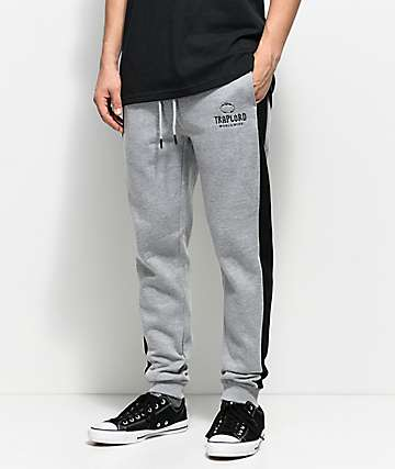 Trap Lord Paneled Grey & Black Sweatpants