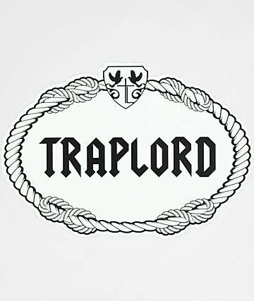 Trap Lord Rope White & Black Sticker