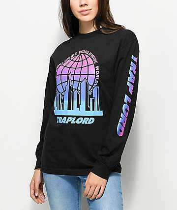 Trap Lord Worldwide Black Long Sleeve T-Shirt