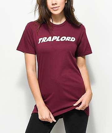 Traplord Logo Burgundy T-Shirt