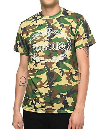 Traplord Military Crest Camo T-Shirt