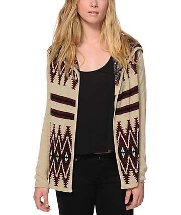 Trillium Acadia Tribal Hooded Cardigan