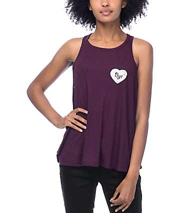 Trillium Alexa Heartbreaker camiseta sin mangas lounge en borgoña
