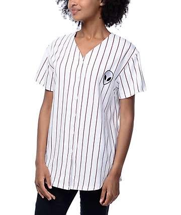 Trillium Alien Burgundy Stripe Baseball Jersey
