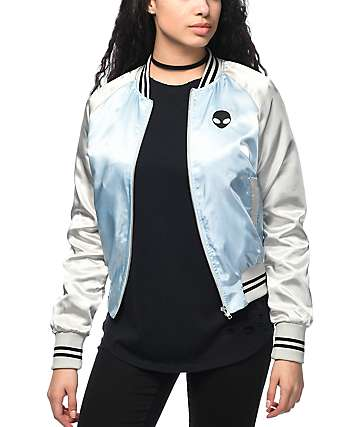 Trillium Alien chaqueta bomber en azul y plata