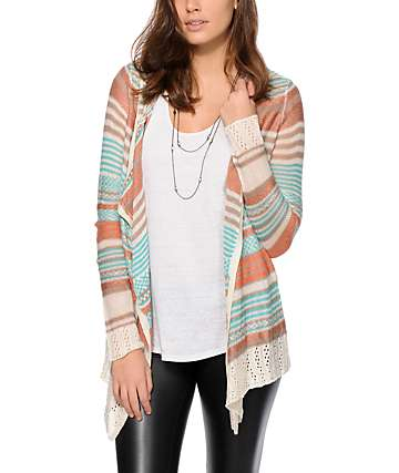 Trillium Amy Stripe Hooded Cardigan