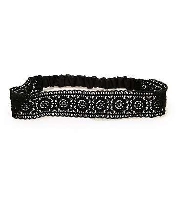 Trillium Black Lace Headband