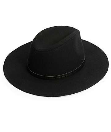 Trillium Black Panama Hat