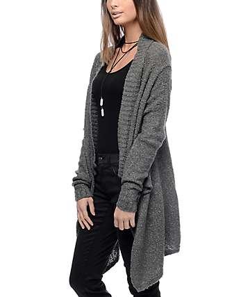 Trillium Boucle Charcoal Blanket Cardigan